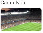 Champions League stemning på Camp Nou